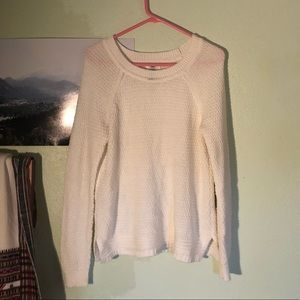 Cozy White Knit Sweater NWOT